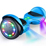 TOMOLOO Hoverboard Bluetooth Speaker UL2272 Certified Self Balancing Electric Scooter.Hoverboard with LED Lights for Kids and Adult
