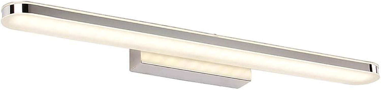 Vovovo 16W Kaltwei Spiegelleuchte Spiegellampe Badleuchte Badlampe Wandleuchte Schranklampe Bilderlampe Flurleuchte Edelstahl Wasserdicht IP65