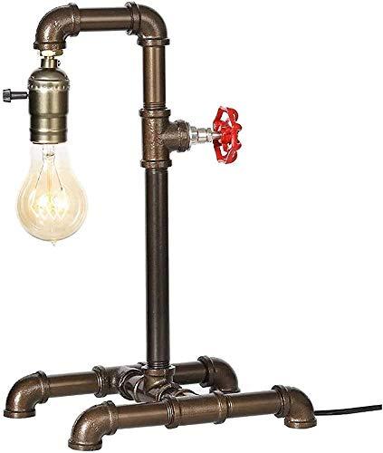 Lámpara de mesa de la vendimia, lámpara de asiento de tubería de agua, sala de estar del dormitorio, restaurante, cafetería, decoración del pasillo,Copper