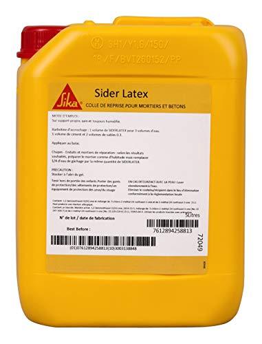 Sider Latex, Colle de reprise pour mortier et béton, 5L, Blanc