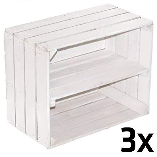 Caja madera maciza usar como estantería zapatos