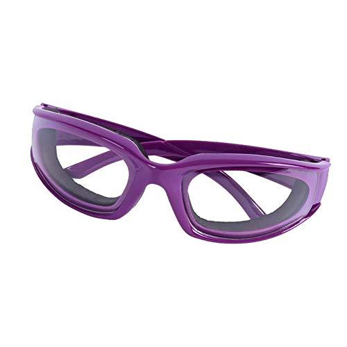 Verlike Zwiebelbrille, langlebig, winddicht und staubdicht, Augenschutz, Küchenwerkzeug violett