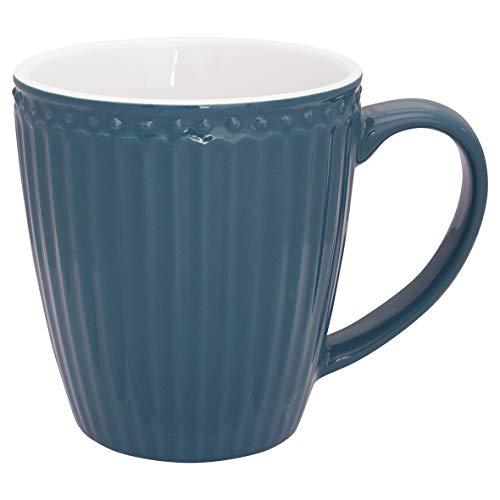 Greengate - Becher, Tasse, Henkelbecher, Mug - Alice - Porzellan - ocean blue - 400 ml