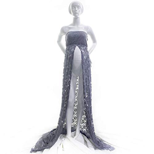 Yiyu Schwangere Damen Maxikleid Umstandskleid Schwangere Fotografie Fotoshooting x (Color : Gray, Size : L)