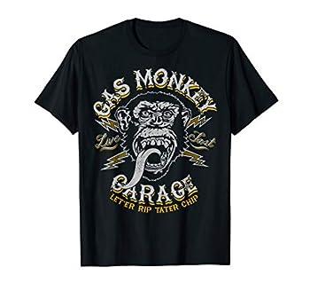 Gas Monkey Garage Live Fast Let er Rip Tater Chip Lighting T-Shirt