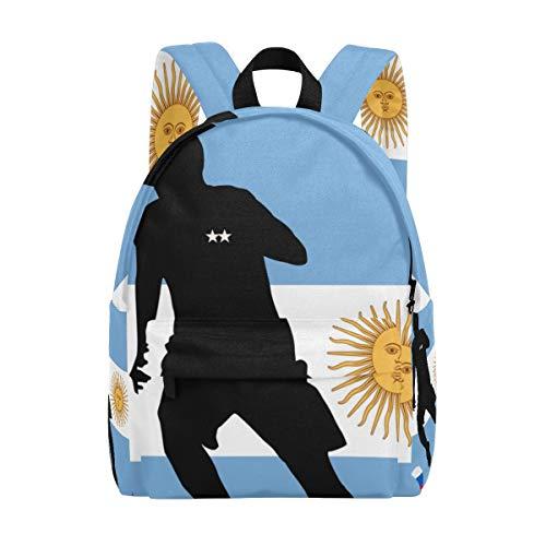 MONTOJ Argentina Bandera Fútbol Mochila de Viaje para Hombres Mujeres