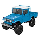 HHoo88 Front LED Light 1:12 4WD RC Car Off-Road Military Rock Crawler Truck KIT Assembly Car Set Without Electronic Equipment, Need to Buy 2.4G Remote Control Receiver ESC Battery