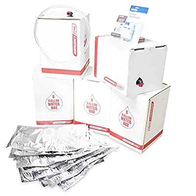 Long Term Water Storage System, BPA Free Water Bags, 5 Year Shelf Life, Available in 25, 50, and 100 Gallons