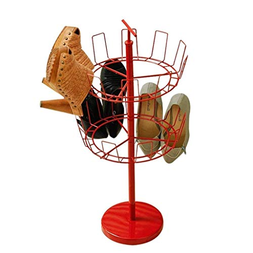 Diaod 2-Tier Ajustable Zapatero Rotatorio, Household Essentials Rotatorio de Zapatos Colgantes de Almacenamiento en Rack