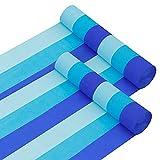 Belle Vous Papel Pinocho Azul (12 Rollos) Papel Crepe 4,4 cm x 24,3 m Decoraciones de Papel para Bodas, Baby Shower, Decoraciones para Cumpleaños, Fondos, Festivales, Decor de Fiestas y Manualidades