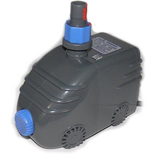 Dophin Teichpumpe Powerhead P-2500, 1250L/H, 2,4m Förderhöhe, 10m Kabel/für Gartenteich, Bachlauf oder Springbrunnen