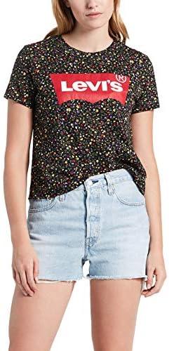 T-Shirt Graphic Surf Donna Verde con Fantasia Floreale e Stampa con Logo