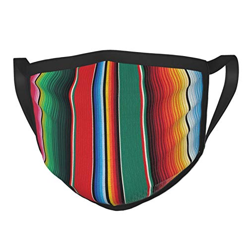 Mexican Rug Serape Stripes The Arts Adults Reusable and Breathable Face Mask, Adjustable Mouth Covering, Indoors and Outdoors, Anti-Haze Dust, Washable Face Bandanas