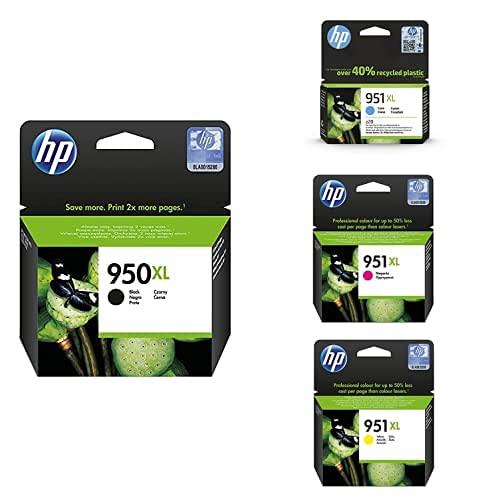 HP 950XL High Yield Schwarz Original Ink Cartridge + 951XL High Yield Gelb Original Ink Cartridge + 951XL High Yield Cyan Original Ink Cartridge + 951XL High Yield Magenta Original Ink Cartridge