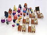 New Brand Peppa Pig Juguetes 25 PCS Peppa Pig Toys Different Models Figures, Classroom Set + Bag Best Toys for Kids