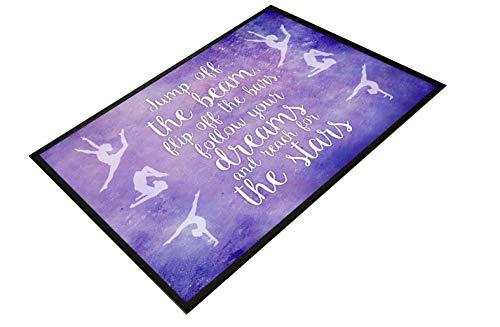 Artylicious Gymnastic Jump Off The Beam - Felpudo para casa, Dormitorio, Bar, Pub, Antideslizante