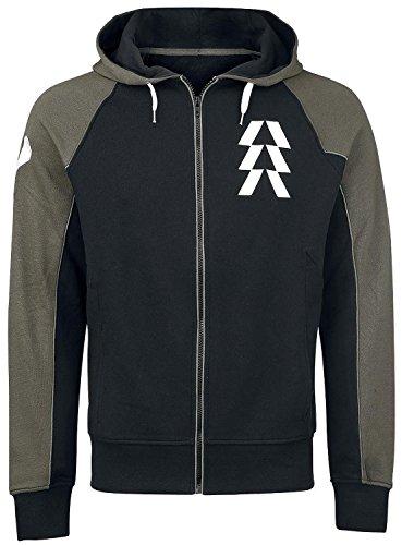Destiny Hunter Kapuzenjacke Sweater Hoodie schwarz/oliv