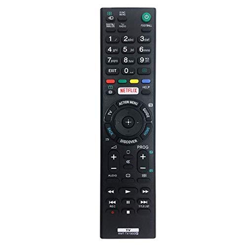 Nuovo telecomando TV di ricambio RMT-TX100D per Sony Bravia Telecomando adatto per Sony Smart TV - RMT-TX100D RMT-TX101J RMT-TX102U RMT-TX102D - Nessuna impostazione richiesta