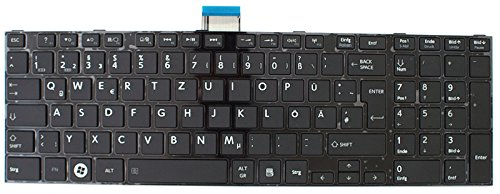Toshiba NExpert deutsche QWERTZ Tastatur Satellite C850 C850D Series DE Schwarz Neu [PC]