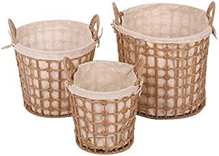 HTDZDX Un Ensemble de 3 boîtes de Rangement de Panier de Rangement pour vêtements Sales, Panier de Rangement en rotin en T...