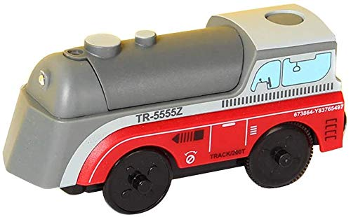 Tren eléctrico de Juguete, Locomotora eléctrica ferroviaria Tren ferroviario de Madera, Tren...