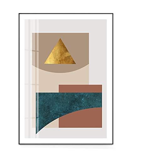 LiMengQi2 Geometría Arte Abstracto de la Pared Lienzos Carteles e Impresiones Pintura Minimalista Cuadro Decorativo para Sala de Estar Decoración Moderna del hogar (sin Marco)