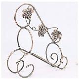 LIAOLEI10 Weinregal Weinregal Weinhalter Regal Charakter Metall Fahrrad Praktische Skulptur Weinständer Dekoration Interieur Handwerk Party Geschenk, Bronze