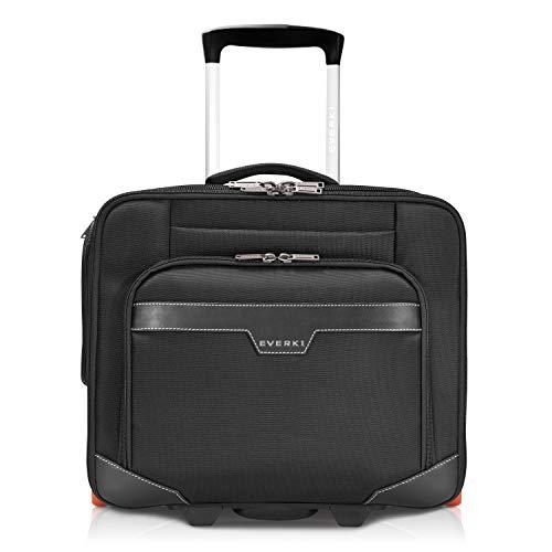 Everki Journey Business Professional 16-Inch Laptop Trolley Rolling Briefcase, Ballistic Nylon, Wheeled (EKB440), Black