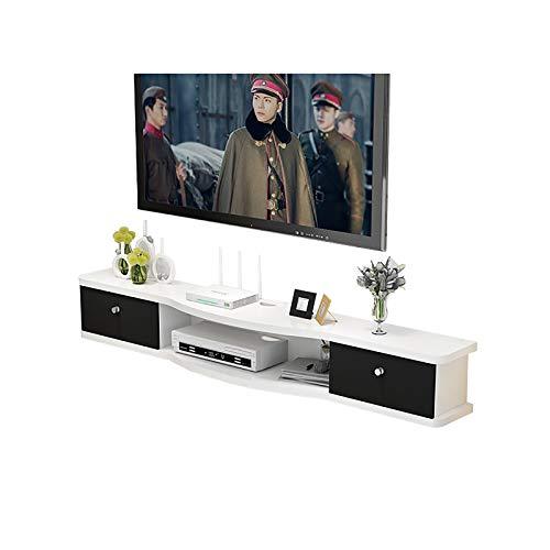 Étagère Meuble de télévision Mural Meuble TV Suspendu en Bois, 100/120/140 / 160CM, pour Xbox/routeurs/télécommandes/lecteurs DVD, Mise à Niveau Facile à Installer. (Size : 120cm)