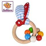 Eichhorn 100017030 - Baby Greifling mit Ohren, Hasenmotiv mit knisternen Plüschohren, 7 Perlen, FSC...