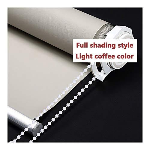 YUDEYU Verdunkelungsvorhänge Schlagfrei Aufblasbar Rollo Einfache Installation Sonnenschutz Sichtschutz (Color : Light coffee color, Size : 120x165cm)