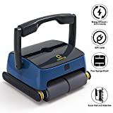 OT QOMOTOP Automatic Robotic Pool Cleaner, Two Large Filter Baskets, Powerful Climbing Performance, Portable Wall-Mounted Pool Cleaner, Strong Waterline Scrubbing Power, Ideal for All Pools