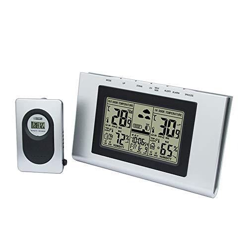 NBWS Weerstation, digitaal weerstation, elektronische kalender, weer, elektronische klok, draadloze binnen- en buitentemperatuur en luchtvochtigheid