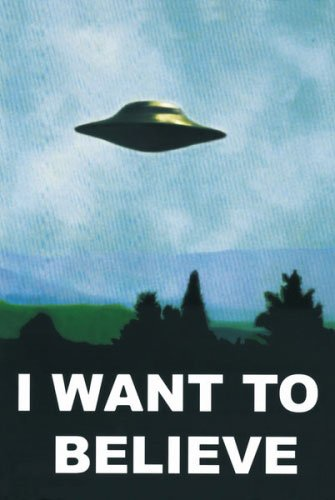 The X-Files - TV Show Poster (UFO - I Want to Believe) (Size: 24 inches x 36 inches) (Poster & Poster Strip Set)