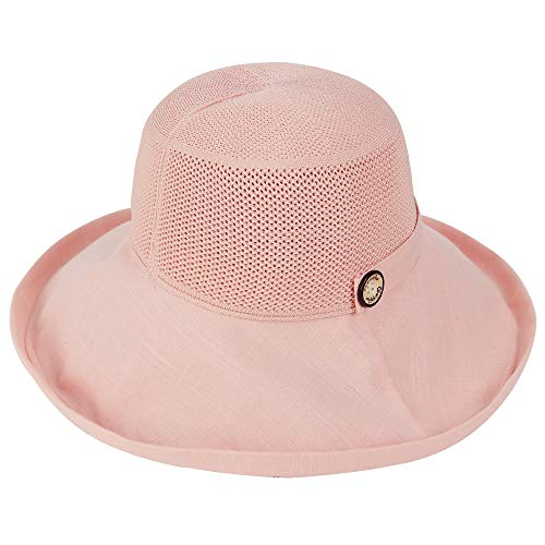 Durio Sun Hat for Women with UV Protection Wide Brim Sun Hat Women Packable Travel Womens Sun Hats Beach Summer Hats I Pink Mesh One Size