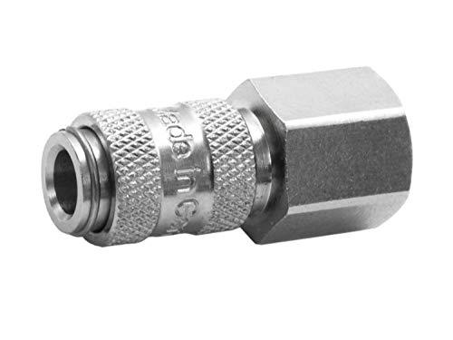 BEGADI Airsoft HPA Adapter,Weiblich' mit G 1/8 Zoll Gewinde (Mini) - EU Anschluss