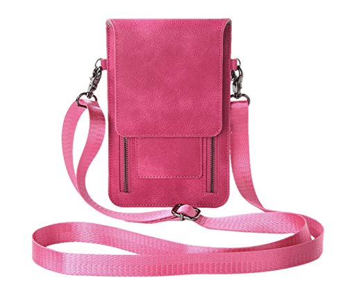 Leuchtbox LB00459, Borsa a tracolla donna Grigio Grau unisize, Pink (Rosa) - LB00459