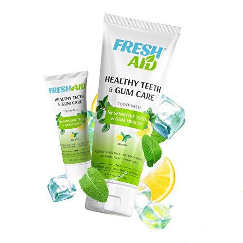 Naturals Sensitive Toothpaste & Travel Toothpaste Pack - Fluoride Free - Toothpaste for Sensitive Teeth and Gums - Vegan, SLS Free, No Artificial Flavor, Sweetener, Color - Healthy Tooth & Gum