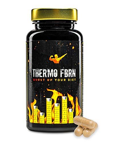 THERMO F-BURN - Premium Stoffwechsel-Formel für Abnehmen + Diät, extra hochdosiert mit Koffein, L-Tyrosin, Ingwer-Extrakt uvm. Geeignet für Männer & Frauen, 60 Kapseln