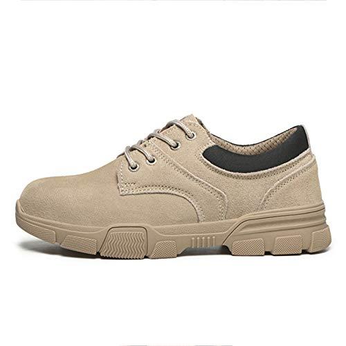 Meng Zapatos de Seguridad Hombre, Zapatos de Trabajo Hombres Ligeros, Puntera de Acero Zapatos de Seguridad, Anti-presión y Anti-pinchazos (Size : 37)