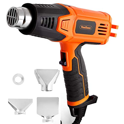 VonHaus Heat Gun 2000W - Hot Air to Remove Paint, Varnish, Dissolve Adhesives, Shape Plastic Tubing & More - 2 Heat Settings: 350°C & 550°C - for DIY, Home Improvement & Restoration