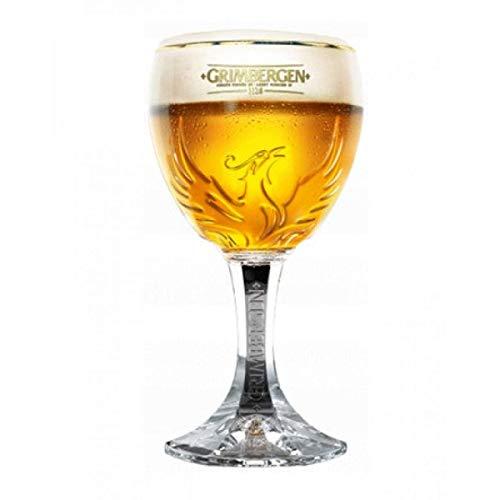 Grimbergen - Bicchiere da birra belga, 33 cl, personalizzabile