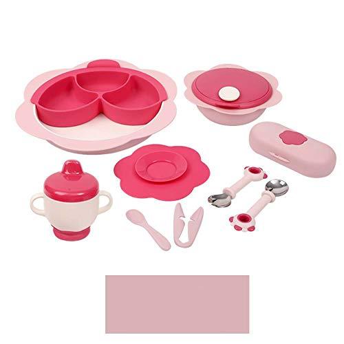 Keuken, potten pannen, Bron van voedingssupplementen isolatie kind kom Bowl lepel voedingssupplementen september winderig vallen mixers,roze