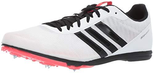 adidas Men's Distancestar, White/Black/Shock red, 12 M US