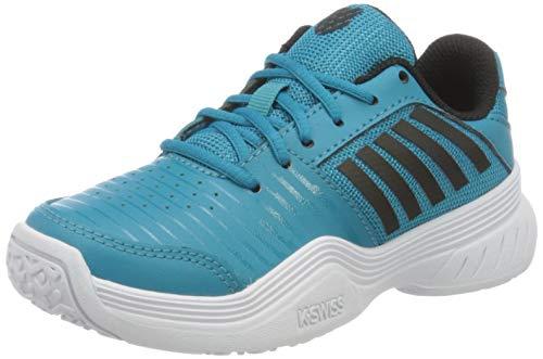 Dunlop KS TFW Court Express Omni Blck/WHT-M Sneaker, Algiers Blue/Black/White, 30 EU