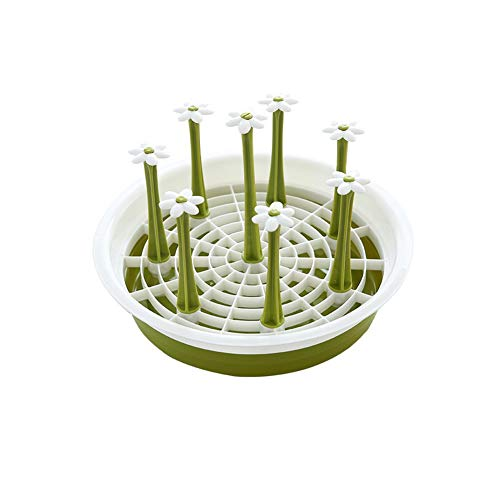 Dniu Cup drying rack drinking glass draining board cup holder tea cup holder environmental protection material removable for glass, cup, cup, bottle (rounds)