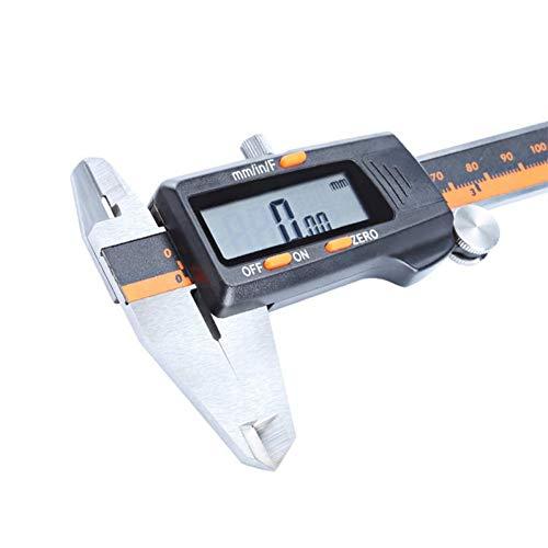 Calibre de acero inoxidable GZRUIGE de 6 pulgadas 150 mm fracción/mm/pulgada LCD digital digital Vernier micrómetro profundidad altura probador