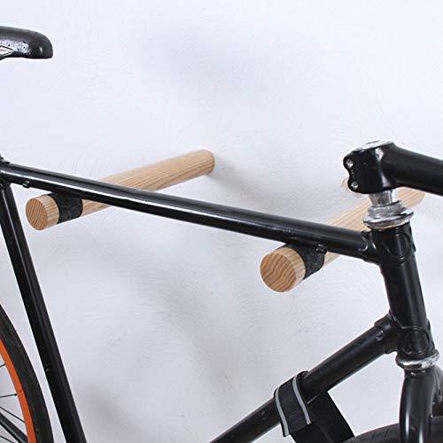 Twonee Fahrrad Wandhalterung Copenhagen - Hochwertige Holz Stäbe um das Fahrrad an der Wand zu befestigen - Fahrrad Wandhalter für Ihr Zuhause - aus Eschenholz (Natur)