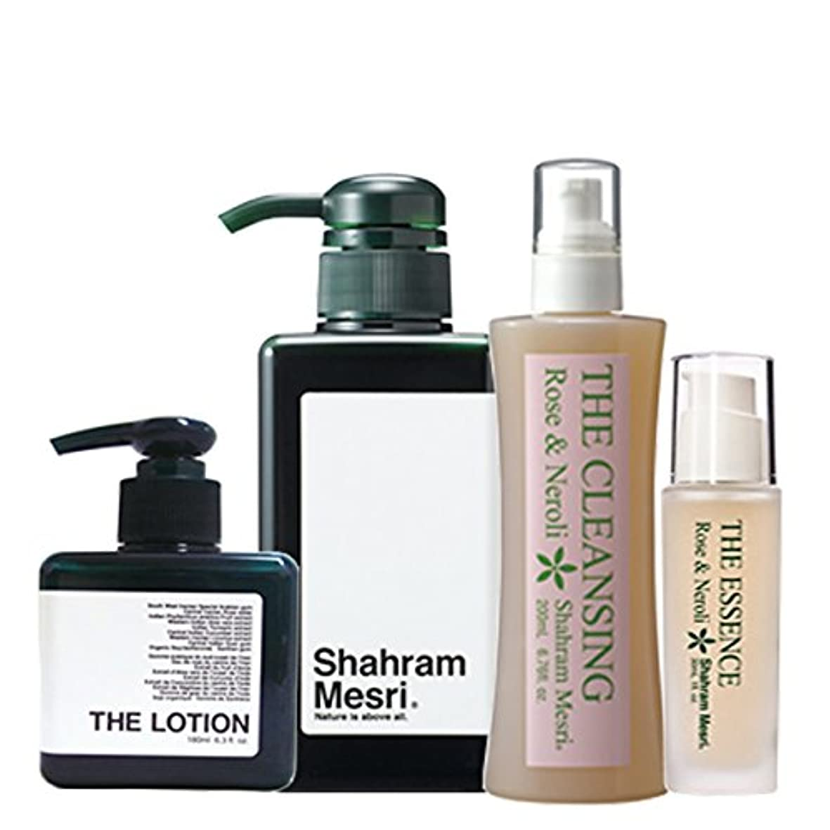 ありがたいにんじん合成Shahram Mesri パーフェクトセット シャハランメスリ ザ?シャンプー ザ?ローション ザ?クレンジング ザ?エッセンス のセットです。 お化粧落としからシャンプーそしてローションエッセンスの仕上げまで お試しください。