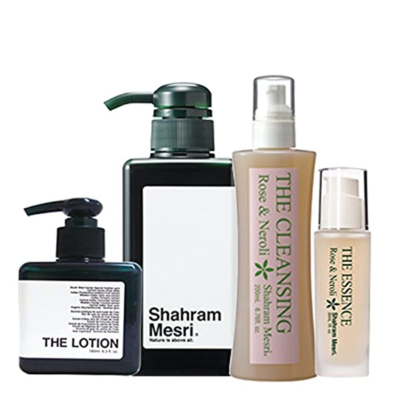 二週間非互換満了Shahram Mesri パーフェクトセット シャハランメスリ ザ?シャンプー ザ?ローション ザ?クレンジング ザ?エッセンス のセットです。 お化粧落としからシャンプーそしてローションエッセンスの仕上げまで お試しください。